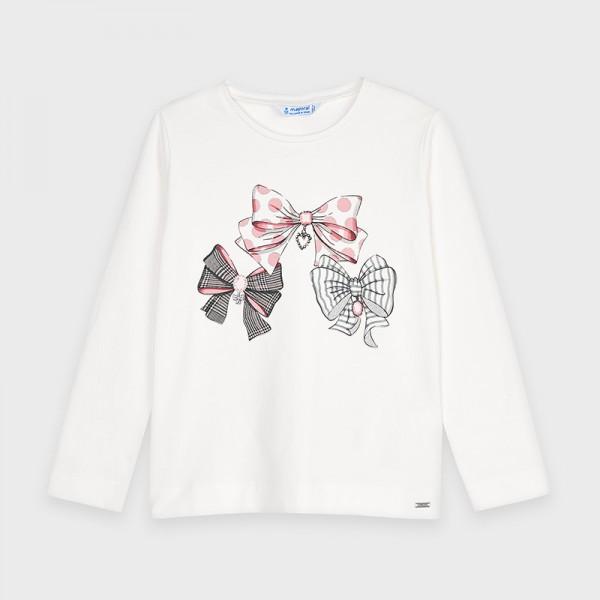 Блуза с принт панделки