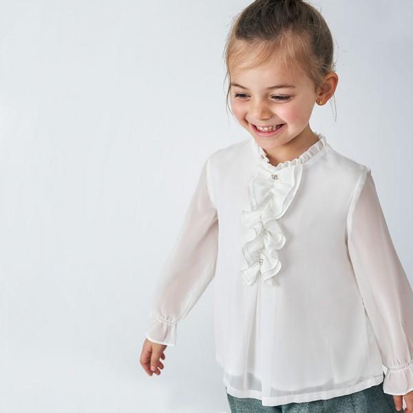 Блуза от шифон за момиче
