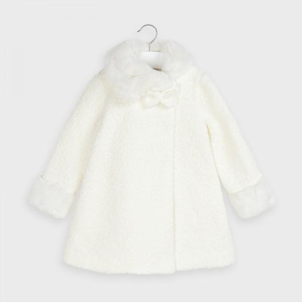 Елегантно палто за момиче с панделка
