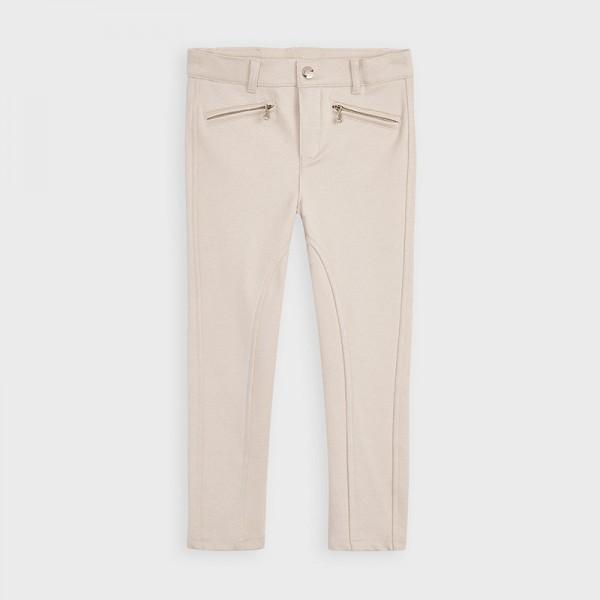 Дълъг панталон от фин габардин за момиче