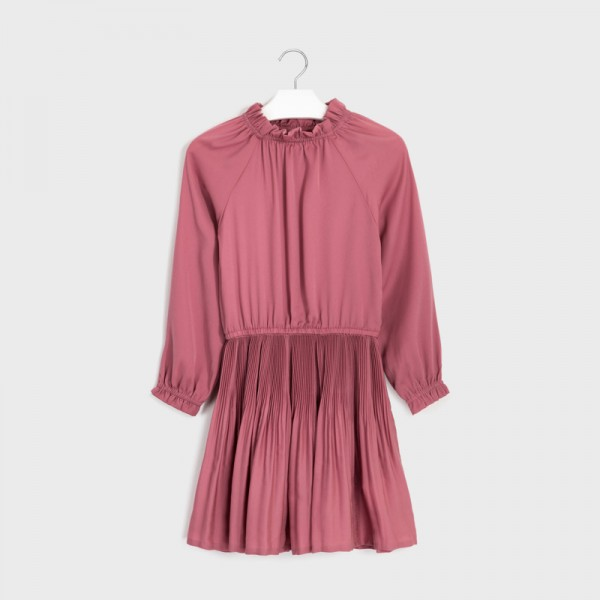 Плисирана рокля сатен за момиче - тийн серия