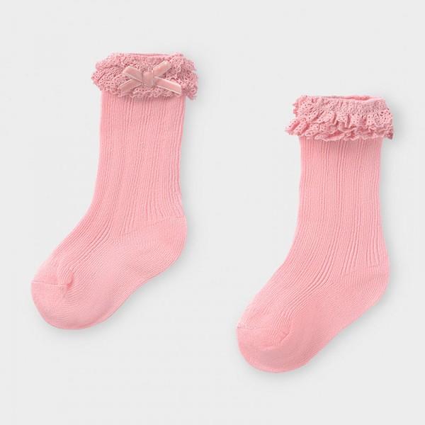 Чорапи с панделки за бебе момиче