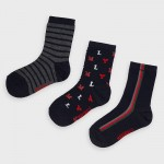 Комплект от 3 чифта чорапи с щампи за момче