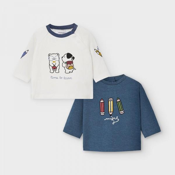 Комплект блузи с животинки за новородено момче
