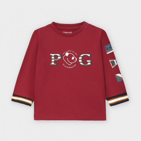 Блуза PG с маншети английски ластик за бебе момче