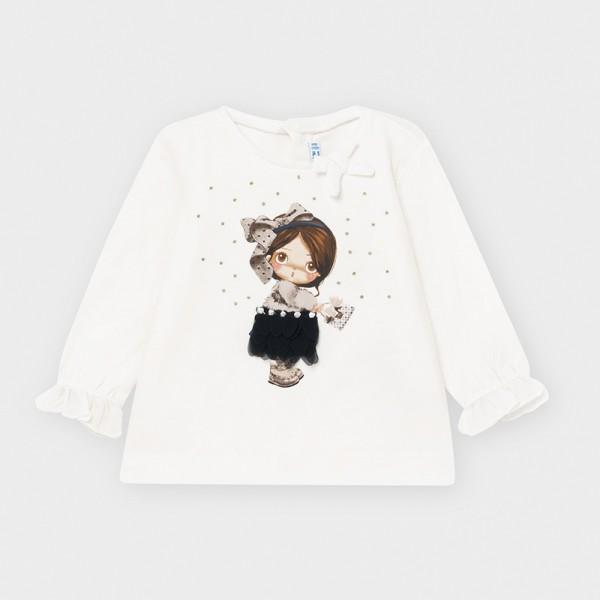 Блуза с момиченца за бебе момиче