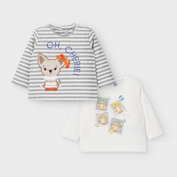 Комплект блуза с лисиче за бебе момиче