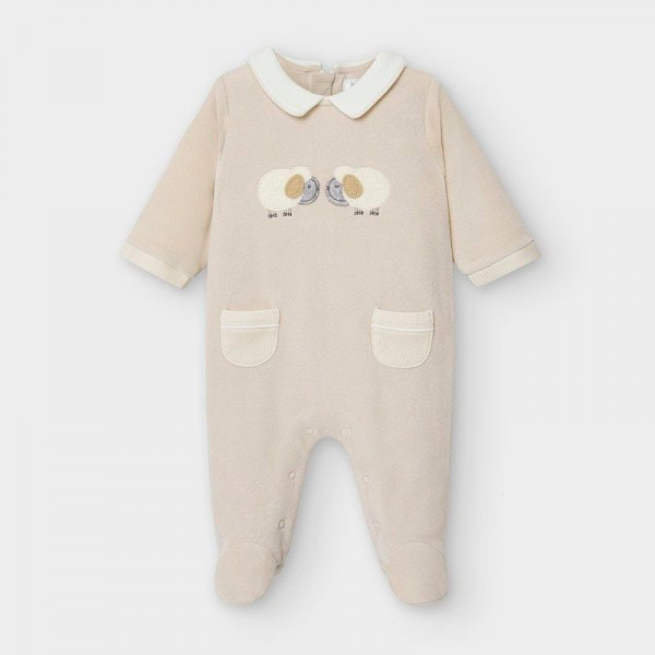 Плюшен гащеризон за новородено