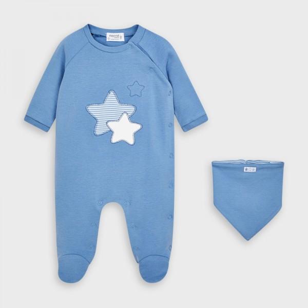 Комплект гащеризон и лигавник за новородено момче