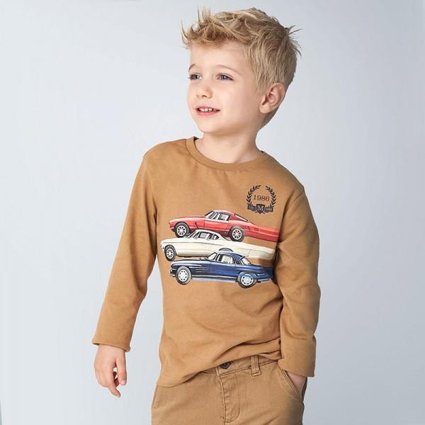 Блуза с ретро автомобили за момче