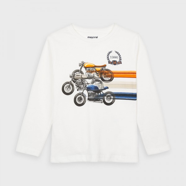 Блуза с ретро мотори за момче