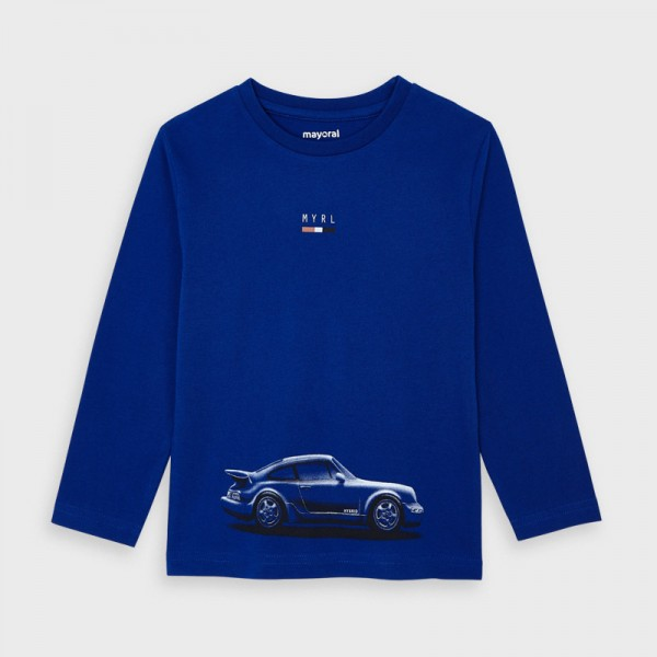 Блуза с принт кола за кола