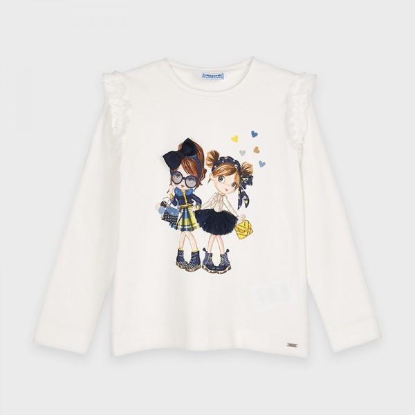 Блуза с принт момиченца