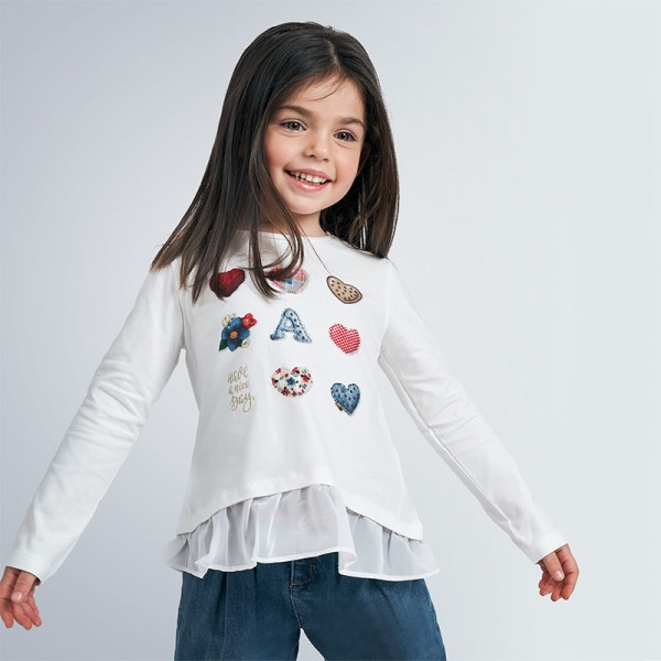 Блуза с принт сърца
