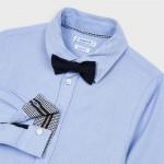 Риза с дълъг ръкав и папийонка за момче