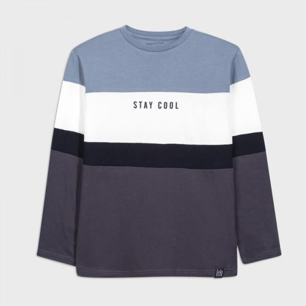 Блуза на райета с stay cool за момче - тийн серия