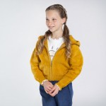 Спортно горнище с косъм за момиче - тийн серия