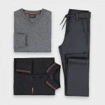 Прав панталон slim със структура на английски ластик за момче
