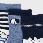Сет от 3 чифта чорапи фантазия за новородено момче