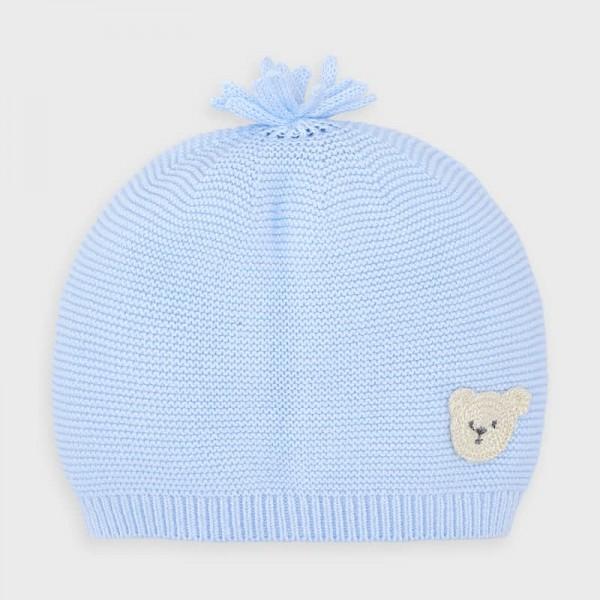 Трикотажна шапка за новородено момче