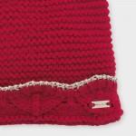 Комплект шапка с ушички и шал за бебе момиче
