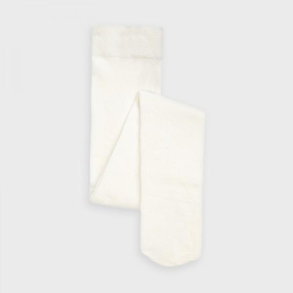 Плътен чорапогащник с гладък дизайн за момиче