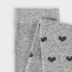 Плътен чорапогащник на сърца за момиче
