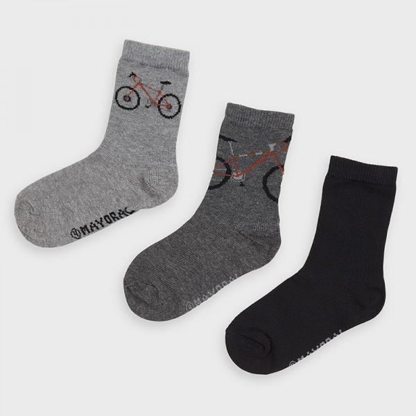 Комплект от 3 чифта чорапи с велосипед за момче