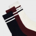 Комплект от 3 чифта чорапи с ленти за момче