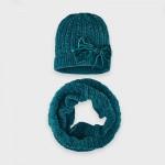 Комплект шапка и шал с панделка за момиче