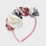 Диадема с цветя и перли за момиче