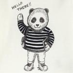 Блуза с принт панда за бебе момче