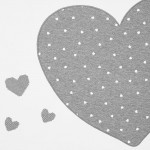 Меко бебешко одеяло със сърца
