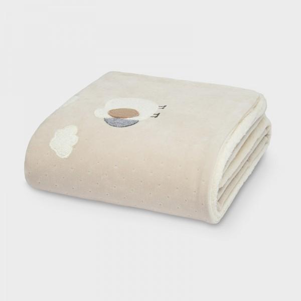 Плюшено бебешко одеяло с косъм