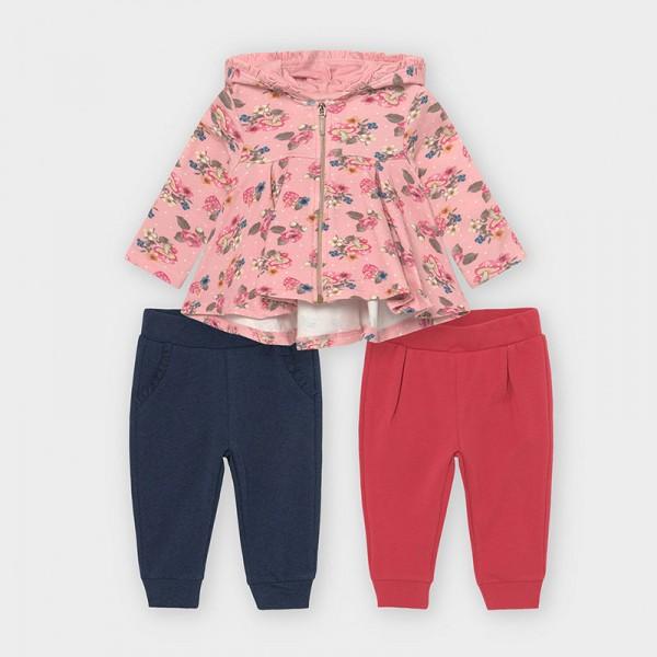Спортен комплект с 2 панталона за бебе момиче
