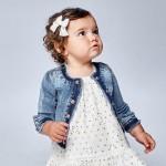Дънково яке за бебе момиче