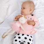 Комплект с коте и ританки за новородено момиче