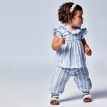 Дълъг широк панталон за бебе момиче