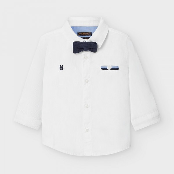 Риза с дълъг ръкав и папийонка за бебе момче