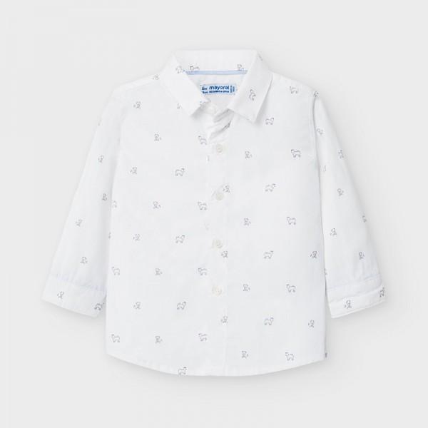 Риза с дълъг ръкав и щампи кученца за бебе момче