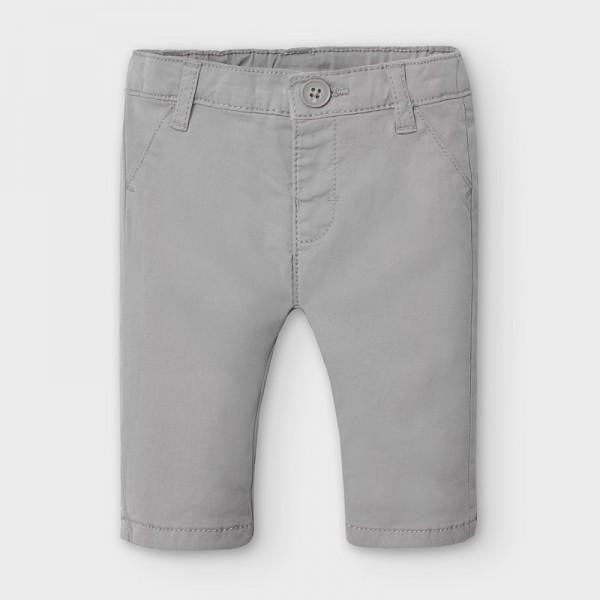 Дълъг прав панталон от туил за новородено момче