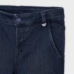 Дълъг дънков панталон slim fit от пике за момче