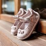 Пантофки с щампи за бебе момиче