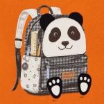 Блуза с рисунка панда с раница за бебе момче