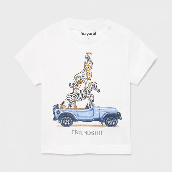 Тениска  Ecofriends с животни за бебе момче