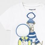 Тениска куче с интерактивна щампа за бебе момче