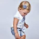 Тениска Ecofriends с бонбони за бебе момиче