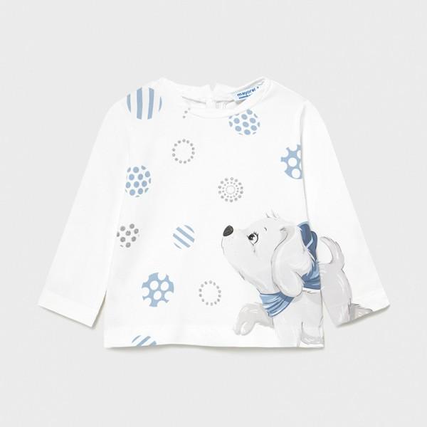 Блуза Ecofriends с кученце за бебе момиче