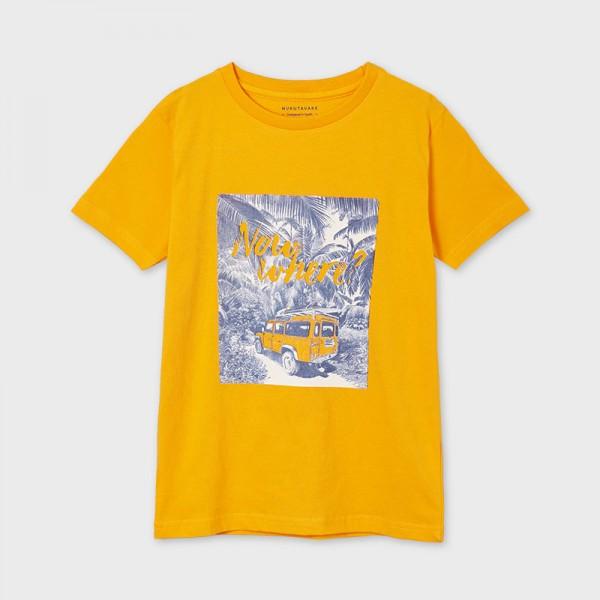 Тениска с къс ръкав и графика now where за момче-тийн серия