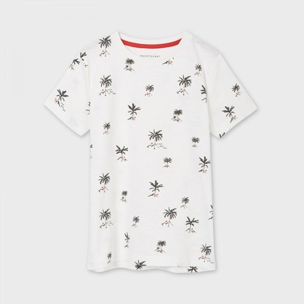 Тениска с къс ръкав и принт all over за момче